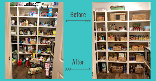 Pantry Organization Before & After