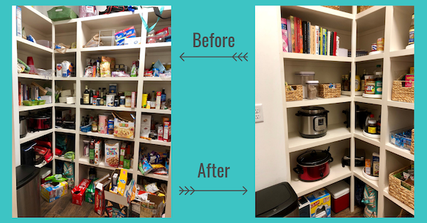 Walk-in pantry organization service